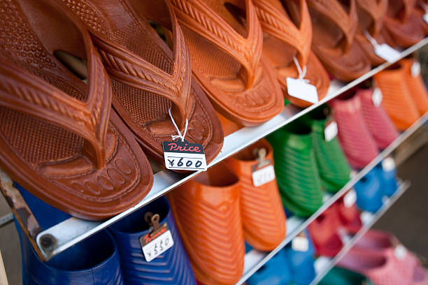 Japanese sandals for sale stock photo