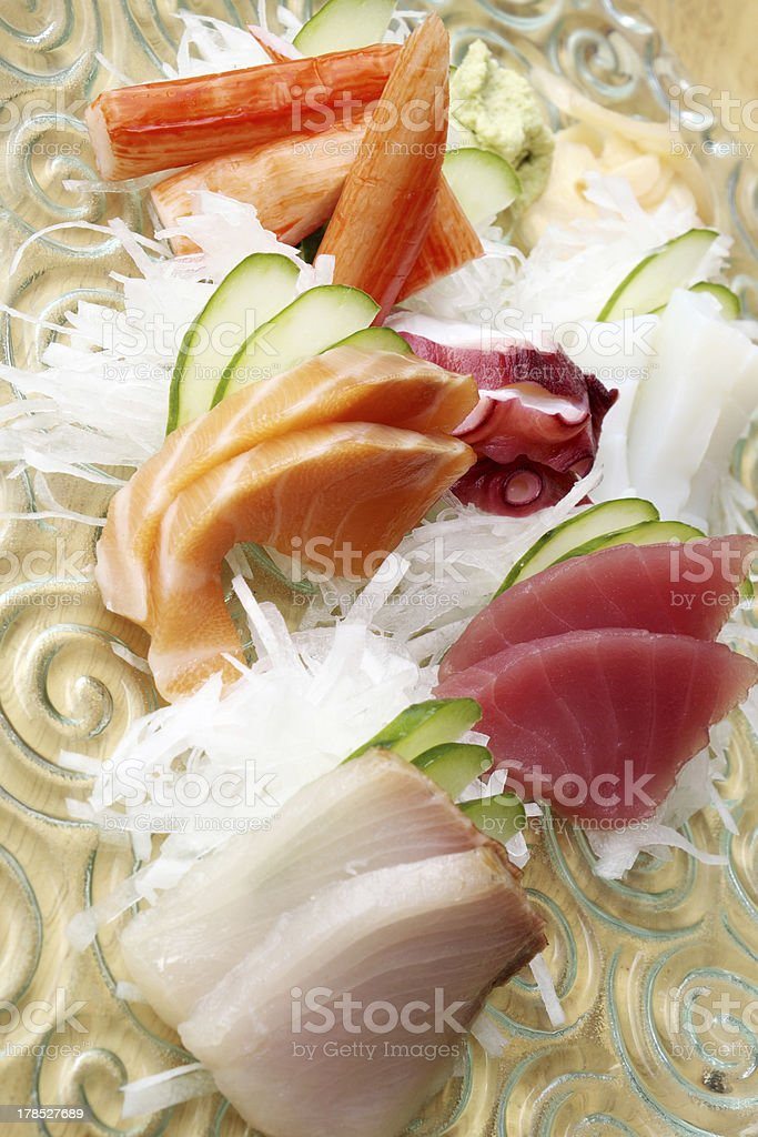 Japanese sashimi royalty-free stock photo
