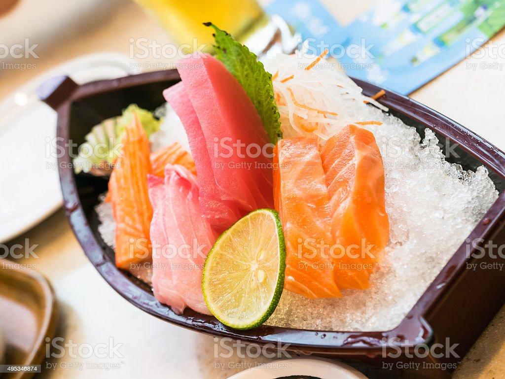 Japanese sashimi stock photo