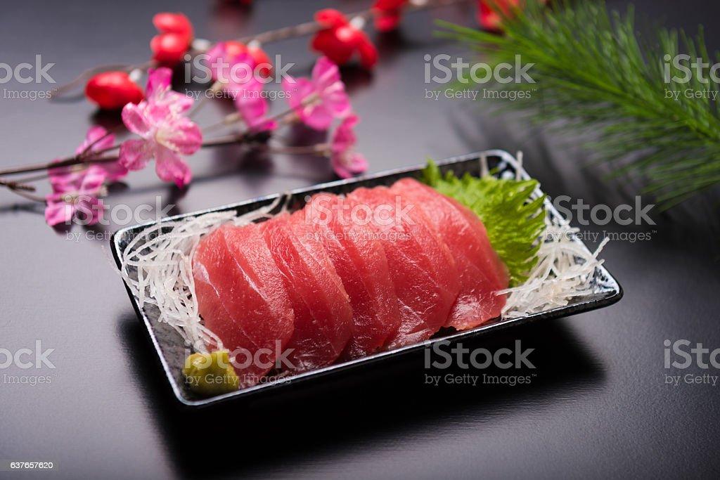 Japanese Sashimi - Tuna fish stock photo