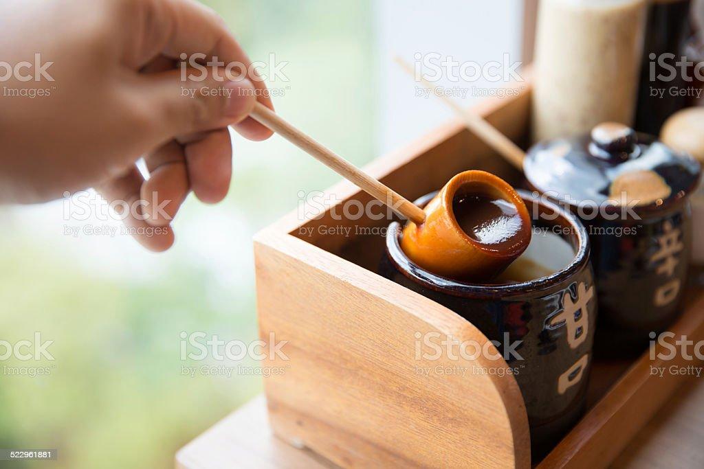 Japanese sauce stock photo