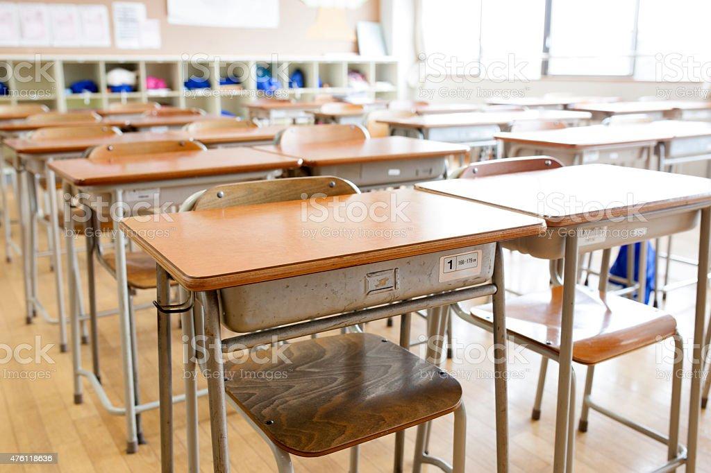 Japanese school classroom traditional wooden desks and for Mesa japonesa tradicional