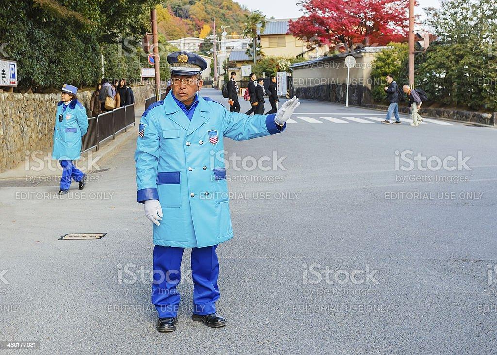Giapponese Guardia di sicurezza - foto stock