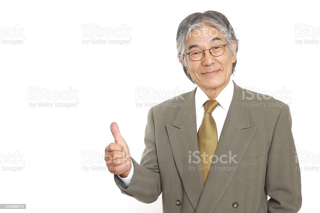 Japanese senior businessman royalty-free stock photo