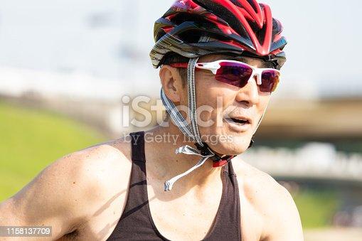 istock Japanese senior cyclist 1158137709
