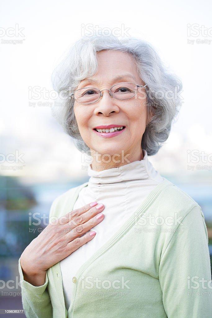 日本の老人女性 ストックフォト