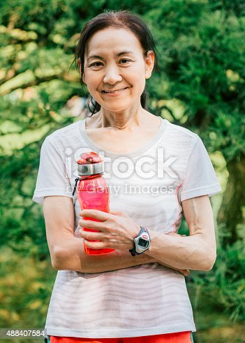 851958232istockphoto Japanese senior woman after working out 488407584