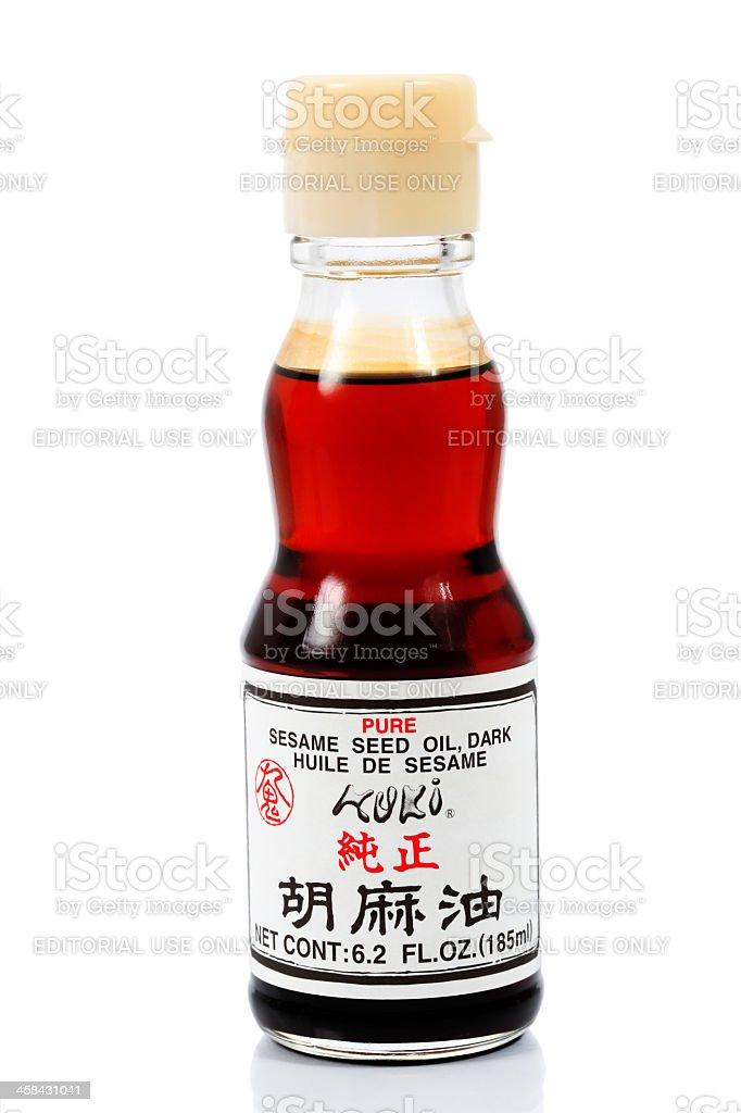 Japanese sesame seed oil stock photo