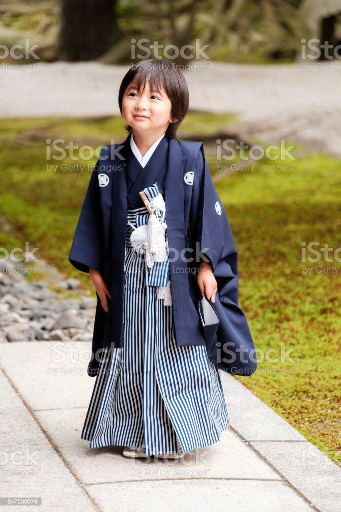 Japanese Shichigosan Ceremony Child stock photo