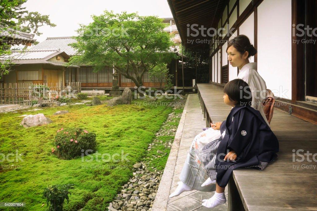 Japanese Shichigosan Ceremony royalty-free stock photo