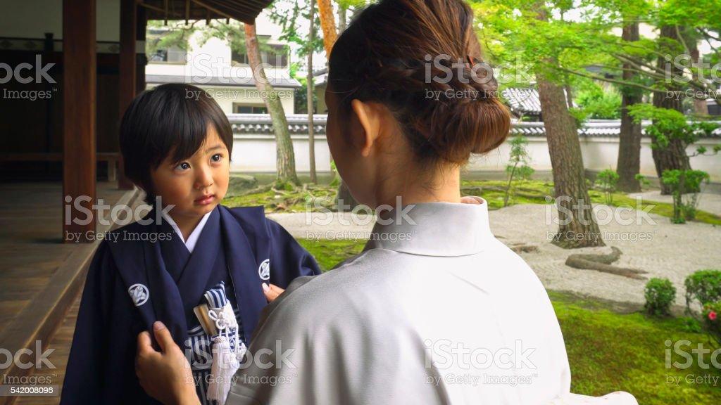 Japanese Shichigosan Ceremony stock photo