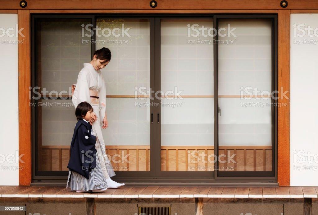 Japanese Shichigosan stock photo