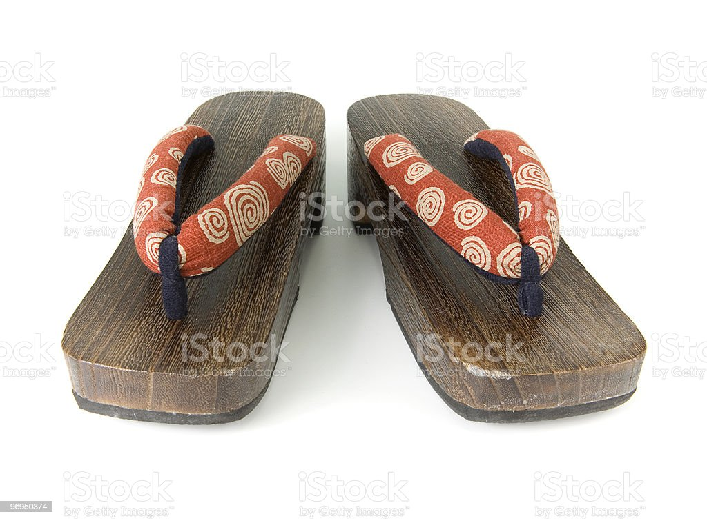 Japanese Shoes,Zori royalty-free stock photo