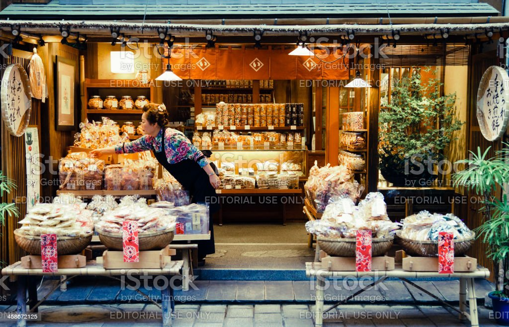Japanese Shopkeeper royalty-free stock photo