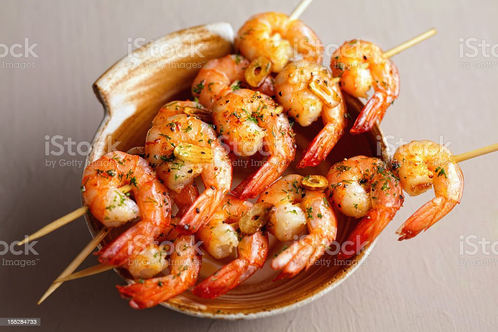 Japanese shrimps stock photo