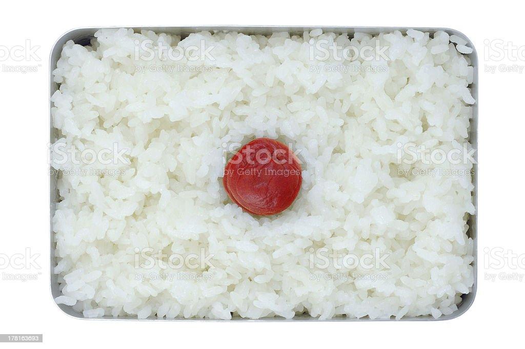 Japanese simple lunch (Hinomaru Bento) royalty-free stock photo