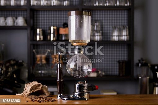 istock Japanese Siphon Coffee Maker with Halogen Beam Heater 626312260