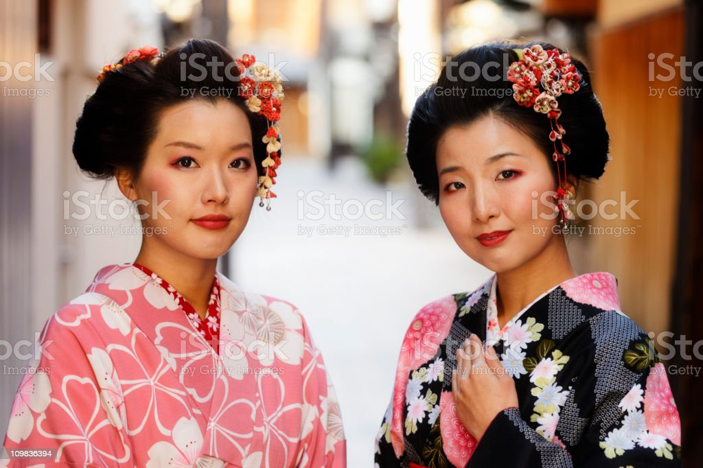Japanese Sisters royalty-free stock photo