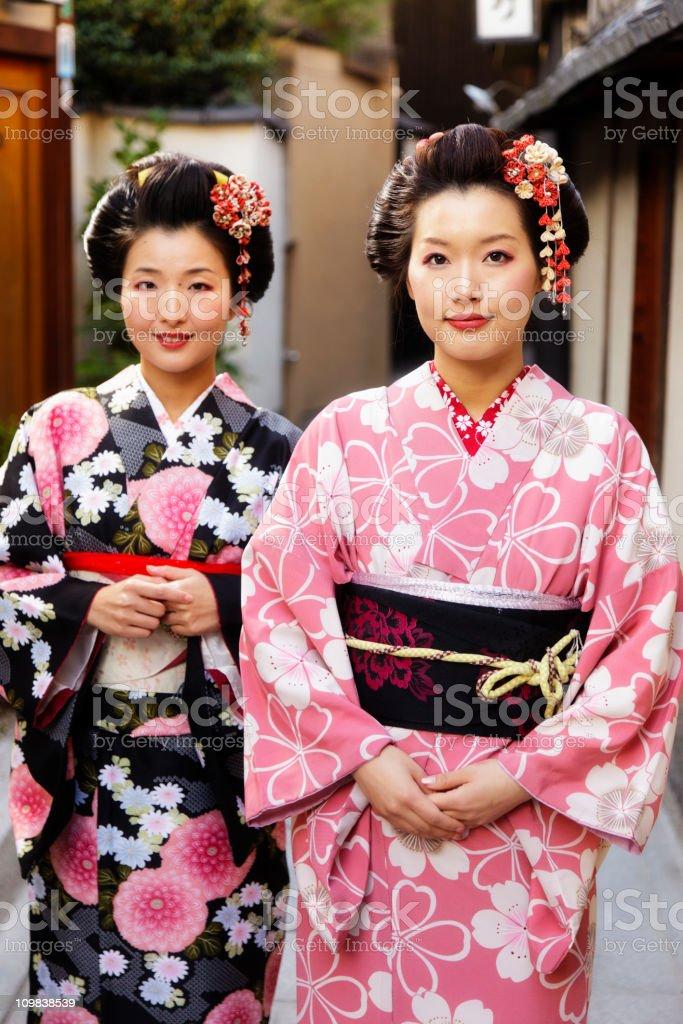 Japanese Sisters stock photo
