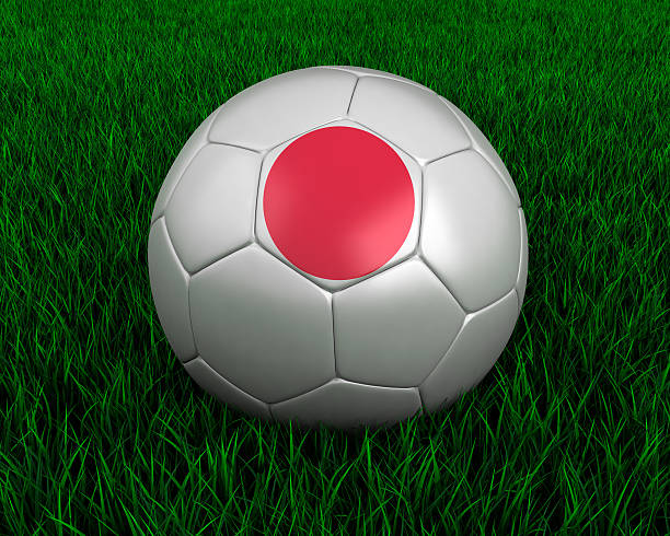 Japanese soccer ball stock photo