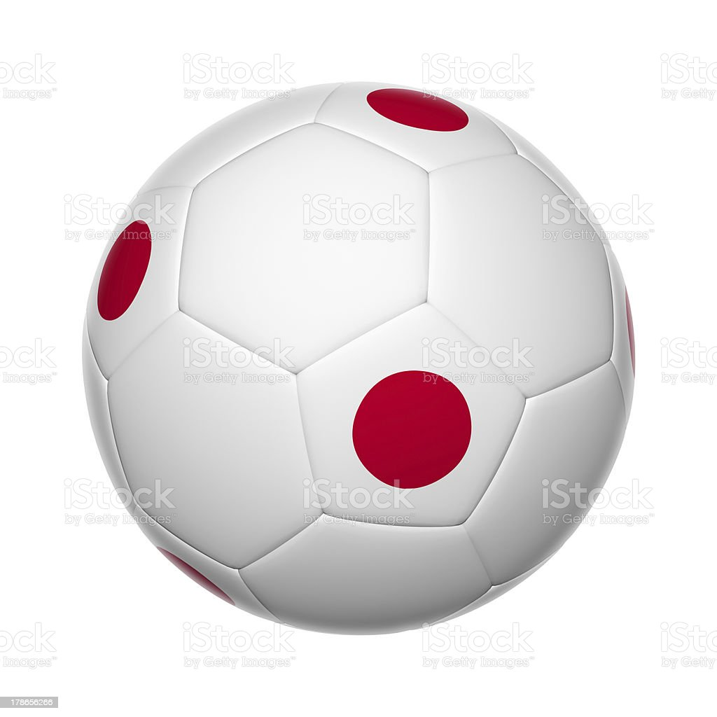 Japanese soccer ball royalty-free stock photo