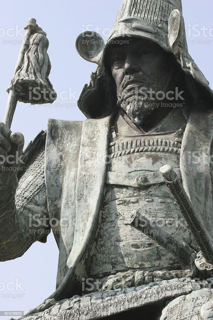Japanese statue stock photo