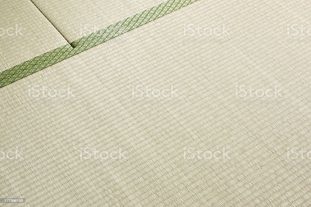 Japanese straw floor covering stock photo