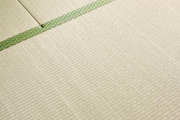 日本のストロー床敷物 - 畳 ストックフォトと画像
