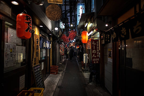 japanese street food at omoide yokocho , shinjuku – Foto