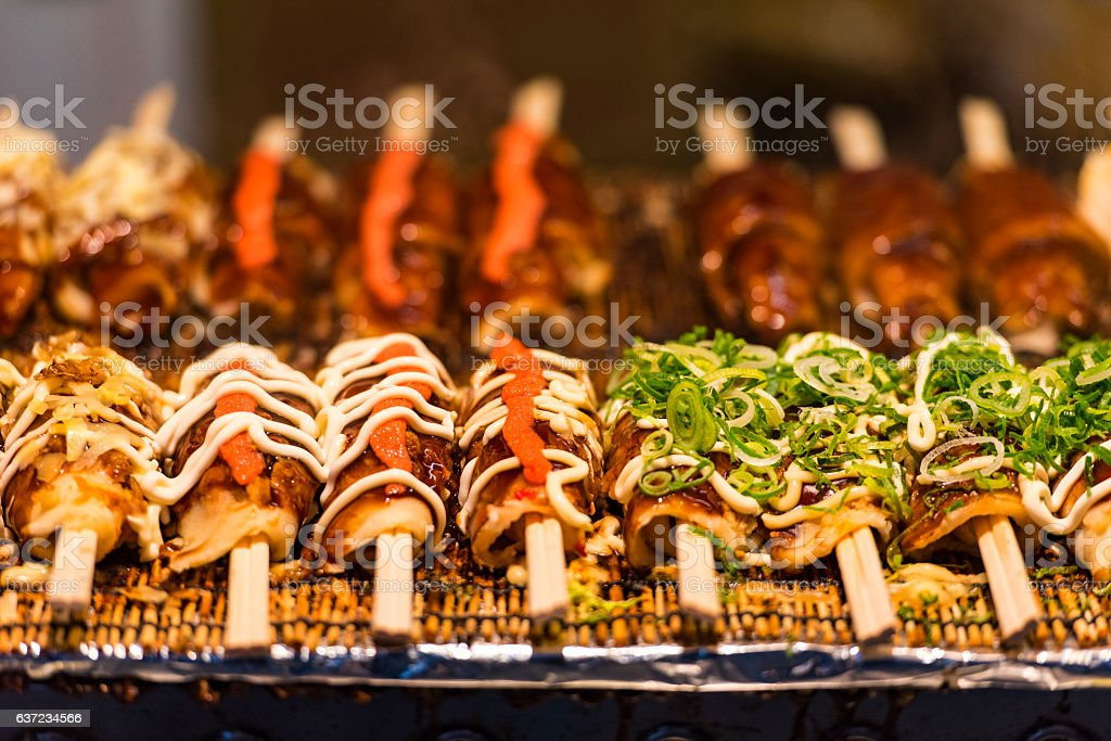Japanese street food in Tokyo stock photo
