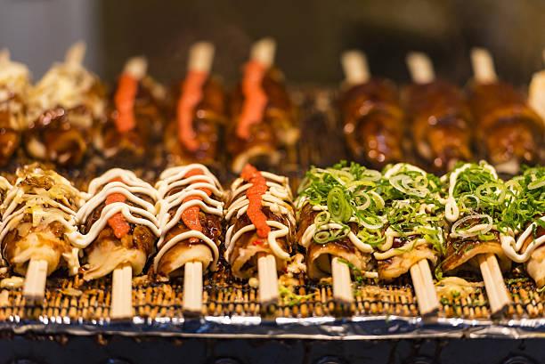 東京で日本の食べ物 - 伝統的な祭り ストックフォトと画像