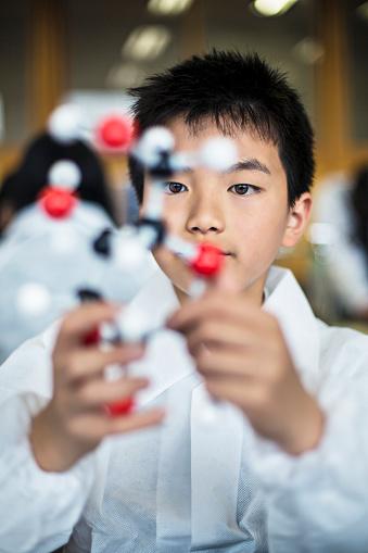 457224763 istock photo Japanese student holding a molecular model 477524620