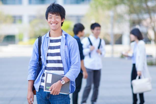 日本人の学生 ストックフォト