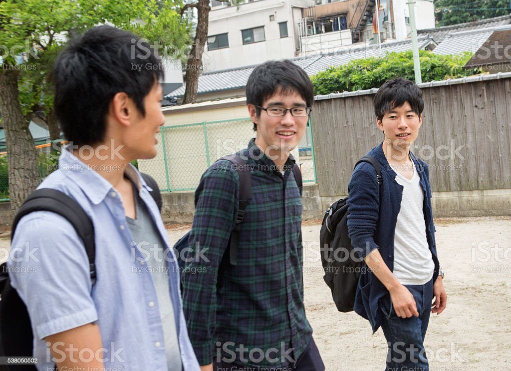 japanese students together with friend classmates in kyoto japan stock photo