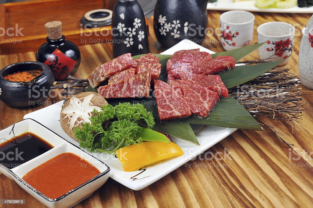 Japanese style barbecue stock photo