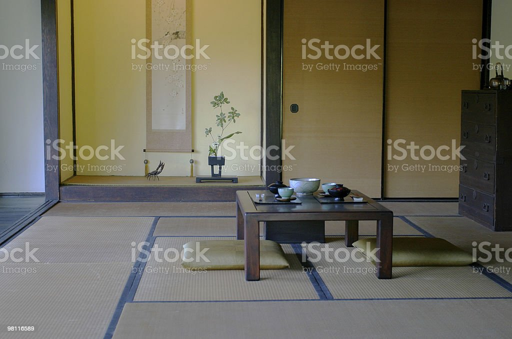 japanese style dining room royalty-free stock photo