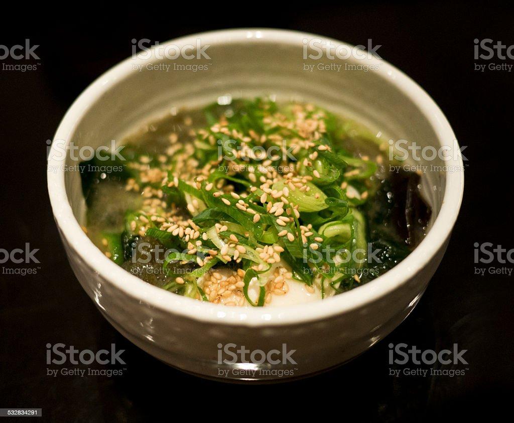 Japanese Style Miso Soup stock photo
