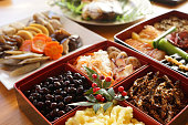 Japanese style new year's meal called Osechi