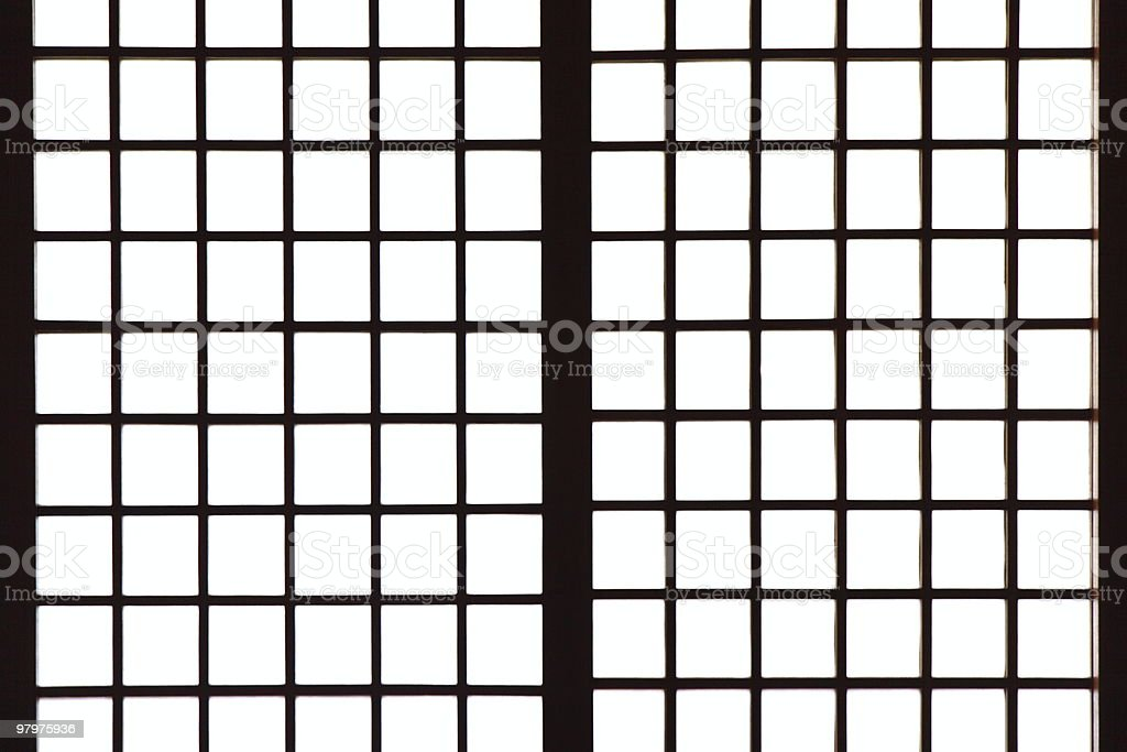 Japanese style paper screen partition (Shoji) royalty-free stock photo