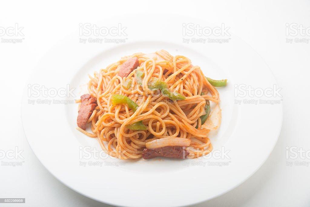 japanese style spagetti stock photo