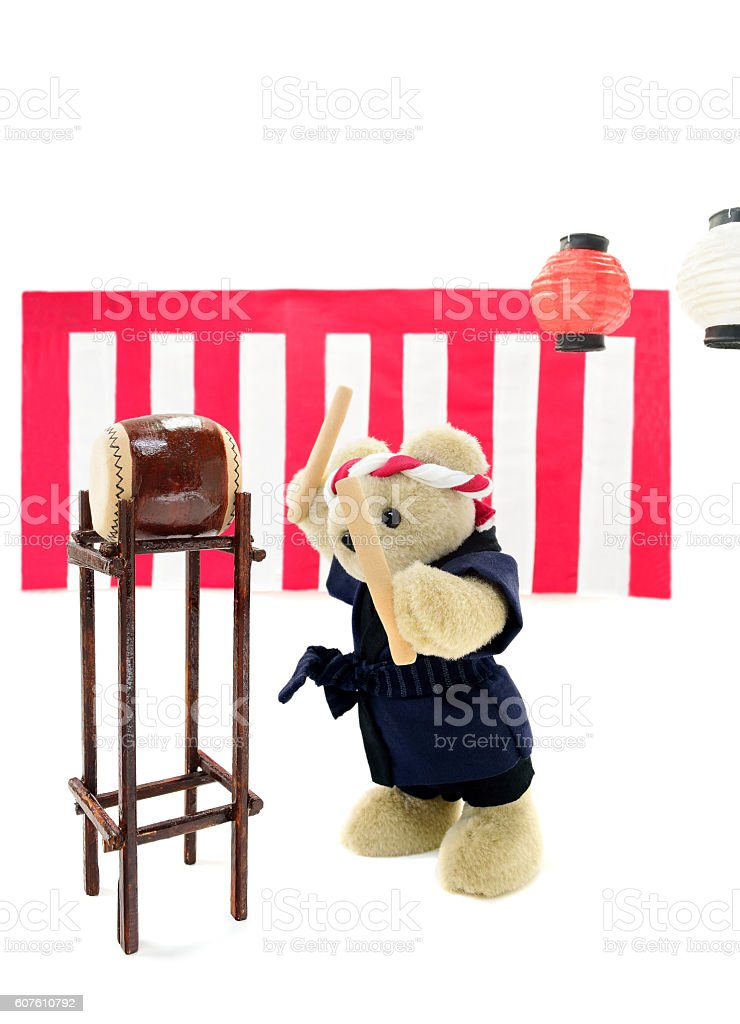 Japanese summer festival stock photo