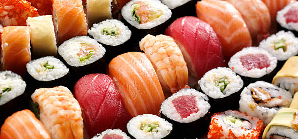japanese sushi - japanese food stock photos and pictures