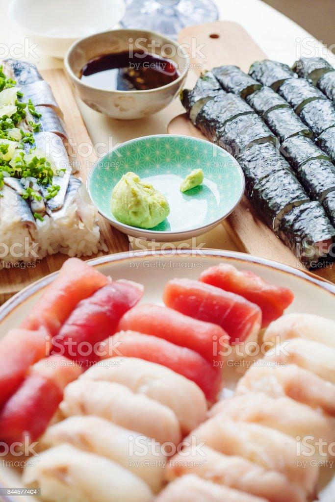 Japanese sushi stock photo