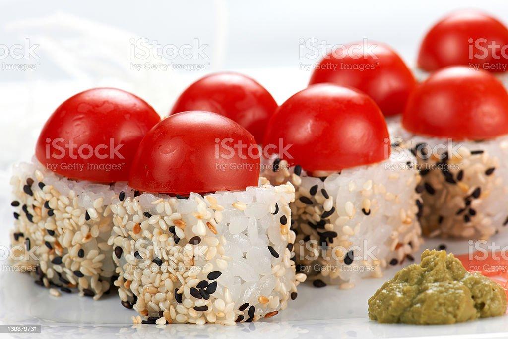 Japanese sushi rolls. royalty-free stock photo
