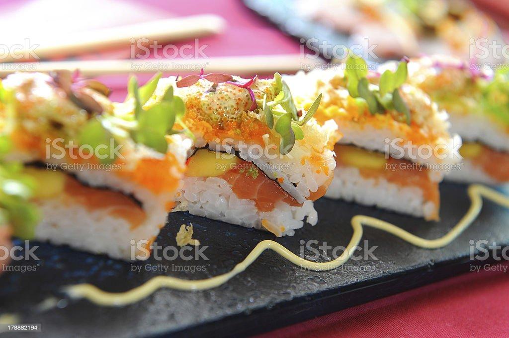 Japanese sushi traditional royalty-free stock photo