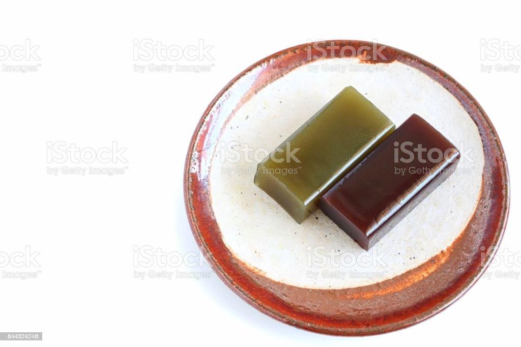 Japanese Sweet Bean Paste Jelly stock photo