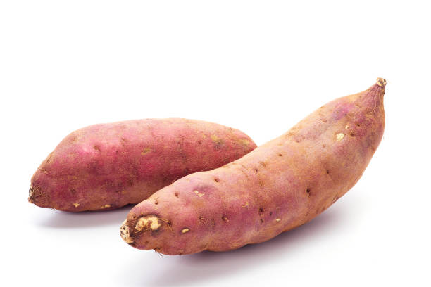 Cтоковое фото japanese sweet potatoes on white background