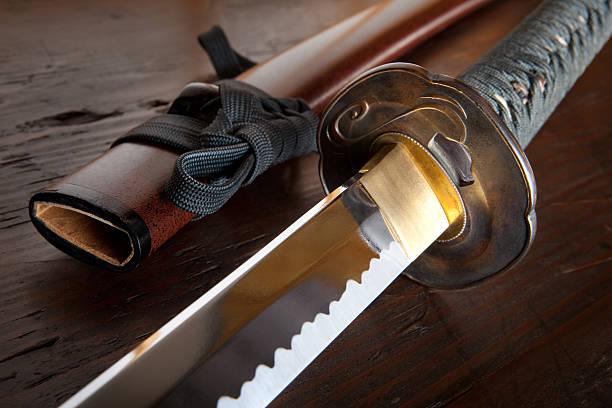 Japanese sword and sheath stock photo