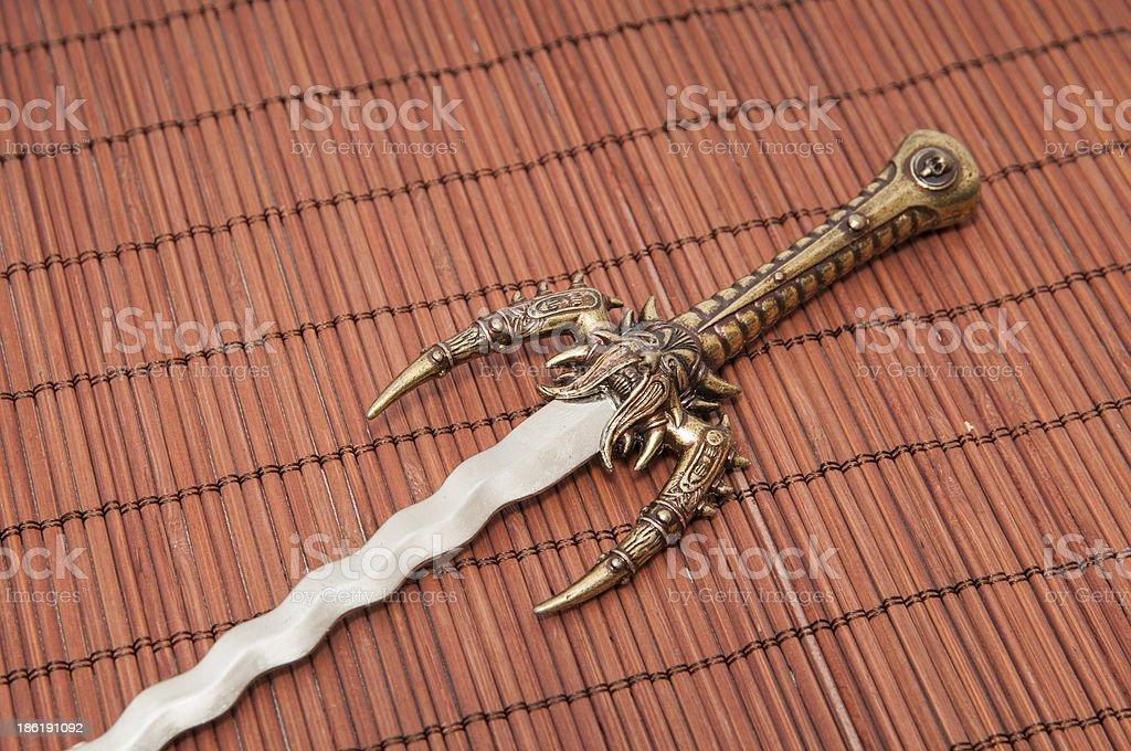 Japanese sword royalty-free stock photo