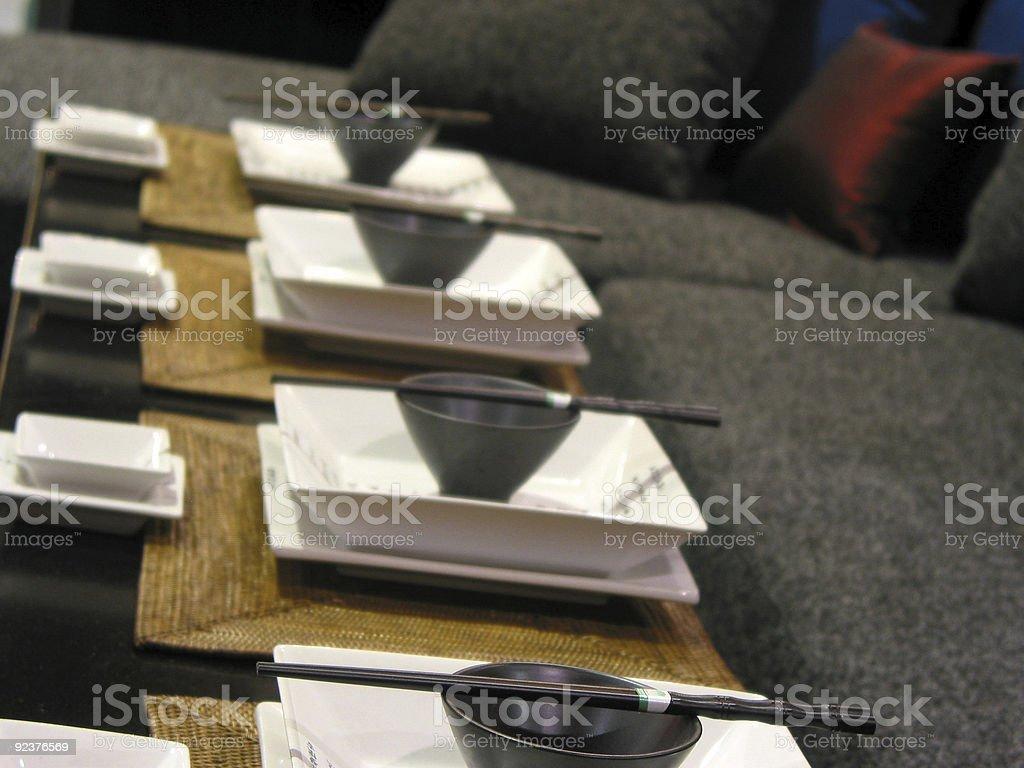 Japanisches Tischgedeck Lizenzfreies stock-foto